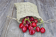 Red Bag Framed Prints - Cherries Framed Print by Joana Kruse