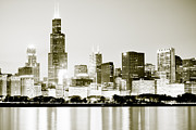 Chicago Art - Chicago Skyline at Night by Paul Velgos
