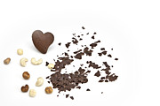 Hazelnut Framed Prints - Chocolate heart Framed Print by Joana Kruse