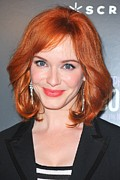 Dangly Earrings Posters - Christina Hendricks At Arrivals Poster by Everett