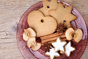 Anise Posters - Christmas Gingerbread Poster by Nailia Schwarz