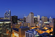 Downtown Austin Framed Prints - City Skyline Framed Print by Jeremy Woodhouse