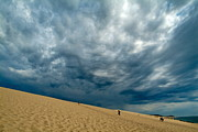 The Great One Prints - Clouds over the Great Dune of Pyla on the Bassin dArcachon Print by Sami Sarkis
