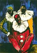 African-american Originals - 3 Clowns by Aldonia Bailey