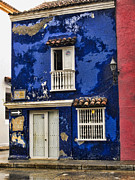Faded Posters - Colonial buildings in old Cartagena Colombia Poster by David Smith