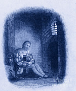 Famous Person Portrait Prints - Columbus In Prison Print by Photo Researchers