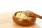 Wooden Bowl Photos - Cous cous salad by Tom Gowanlock