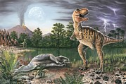 Cretaceous Prints - Cretaceous-tertiary Extinction Event Print by Richard Bizley