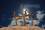 Pentecost Photos - 3 Crosses Descent of Holy Spirit by Robyn Stacey