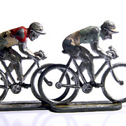 Race Metal Prints - Cyclists Metal Print by Bernard Jaubert