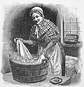 Washtub Prints - Daily Life: Housework Print by Granger