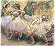 Dancer Art Pastels Prints - Dancers Print by Edgar Degas