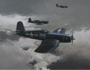 Navy Paintings - Dark Edge by Curtis Chapline