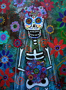 For Bride Framed Prints - Day Of The Dead Bride Framed Print by Pristine Cartera Turkus