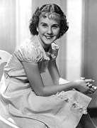 Puffed Sleeves Framed Prints - Deanna Durbin, 1936 Framed Print by Everett