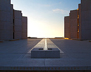 Modernism Photo Framed Prints - Design and Architecture of the Salk Institute in La Jolla Califo Framed Print by ELITE IMAGE photography By Chad McDermott