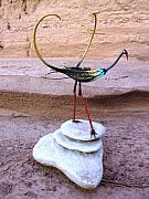 Desert Sculptures - Devils Claw Bird Sculpture by Jeff Ross