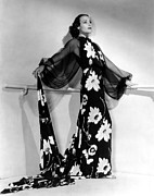 Flowered Dress Framed Prints - Dolores Del Rio, 1935 Framed Print by Everett