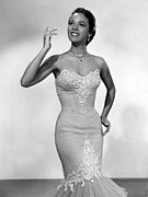 Bare Shoulder Prints - Dorothy Dandridge, Ca. 1950s Print by Everett