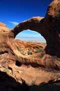 Double O Arch Posters - Double 0 Arch in Arches National Park Poster by Pierre Leclerc