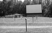 Speakers Framed Prints - Drive-In Theater Framed Print by Frank Romeo