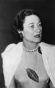 Duchess Photo Posters - Duchess Of Windsor Wallis Simpson Poster by Everett