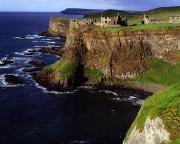 Tourist Attractions Art - Dunluce Castle, Co. Antrim, Ireland by The Irish Image Collection