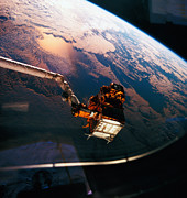 Space Shuttle Photo Prints - Earth Viewed From The Space Shuttle Print by Stockbyte
