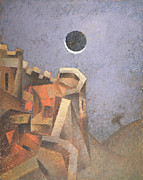 Japan Paintings - Eclipse by Nicolay  Reznichenko