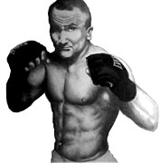 Mixed Martial Arts Drawings - Eddie Alvarez by Audrey Snead