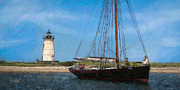 Cape Cod Prints - Edgartown Light Print by Michael Petrizzo