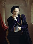 Edwin Booth Framed Prints - Edwin Booth 1833-1893, American Actor Framed Print by Everett