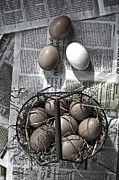 Newspaper Posters - Eggs Poster by Joana Kruse