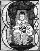 Ball Gown Prints - Elizabeth I (1533-1603) Print by Granger