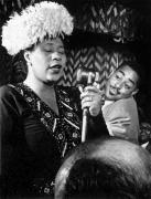Entertainer Art - Ella Fitzgerald (1917-1996) by Granger