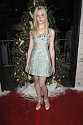 Jeweled Dress Framed Prints - Elle Fanning At Arrivals For The Framed Print by Everett