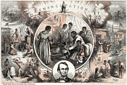 Emancipation Photo Framed Prints - Emancipation Proclamation Framed Print by Granger
