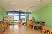Empty Estonian Elementary Grade School Print by Jaak Nilson