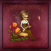 Fairy Art For Sale Prints - Fairy in the garden Print by John Junek