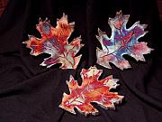 Japanese Ceramics - Falling Leaves by Jude  Winchester