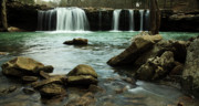 Arkansas Photo Posters - Falling Water Falls Poster by Iris Greenwell