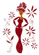 Silhouette Drawings - Fashion Illustration by Frank Tschakert