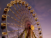Wheels Photo Prints - Ferris wheel Print by Bernard Jaubert