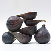 Sliced Photo Prints - Figs Print by Bernard Jaubert