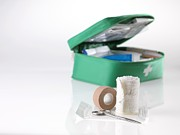 Lint Prints - First Aid Kit Print by Tek Image