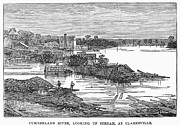 Clarksville Framed Prints - Flood: Clarksville, 1874 Framed Print by Granger