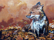 Fox Mixed Media - Fox knows the way by J W Baker