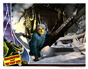 Wolfman Prints - Frankenstein Meets The Wolf Man, Main Print by Everett