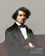 Slavery Prints - Frederick Douglass, African-american Print by Photo Researchers