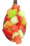 Cantaloupe Prints - Fresh fruit salsa Print by David Smith
